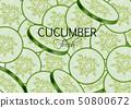 Cucumber Vector realistic. Fresh tasty slices 50800672