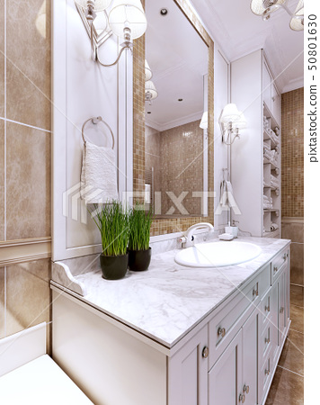 Art Deco Bathroom Trend Stock, Art Deco Bathroom