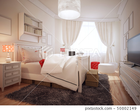 Elegant bedroom in art deco trend 50802149