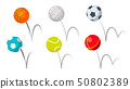Bounce Balls Sport Playing Equipment Set Vector 50802389