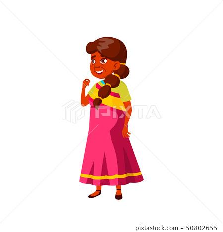 Indian Old Woman Vector. Elderly People. Senior Person. Isolated Cartoon Illustration 50802655