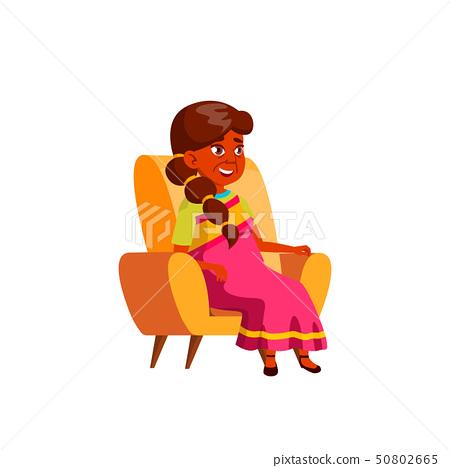 Indian Old Woman Vector. Elderly People. Senior Person. Isolated Cartoon Illustration 50802665