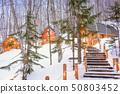 Furano, Hokkaido, Japan winter cabins 50803452