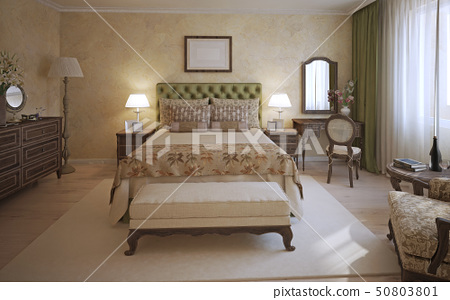 Master bedroom english style 50803801