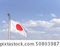 Japanese flag Hinomaru 50803987