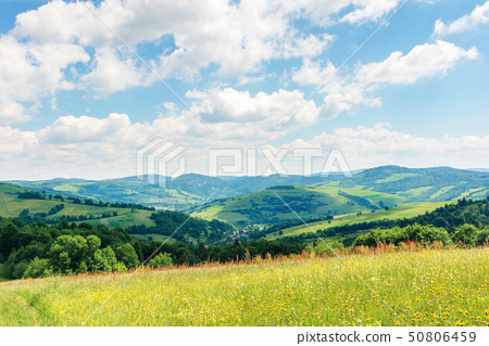 beautiful summer countryside in mountains 50806459