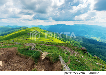 mountain landscape on cloudy summer noon 50806482