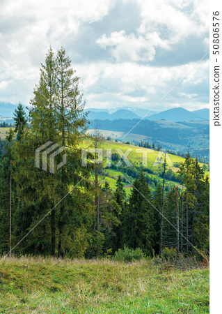 cloudy september countryside in mountains 50806576