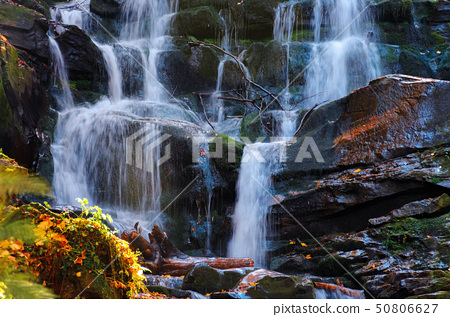 streams and cascades of waterfall 50806627