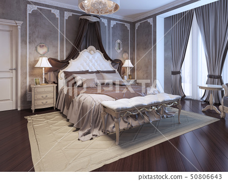 Luxury interior of art deco bedroom 50806643