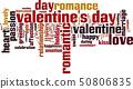 Valentine's Day word cloud 50806835