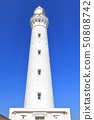 [Shimane Prefecture] Izumo sun Gyoza lighthouse under fine weather 50808742