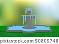 fountain on the lawn in the garden 50809748