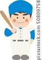 남성 캐릭터 야구 50809758
