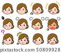 女性主妇面部表情变异 50809928