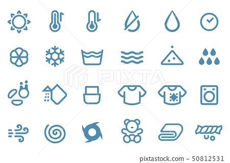 Icon about washing machine electronic button 50812531