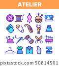 Fashion Atelier And Sewing Linear Vector Icons Set 50814501