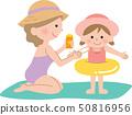 Sunscreen mom and girl 50816956