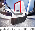 Close-up, with, the, puck, during, the, game 50816990
