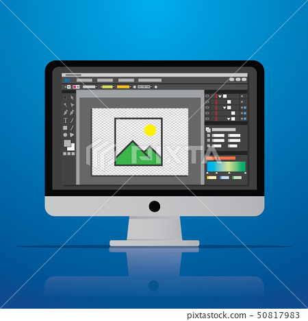 graphic photo picture editor software icon on 50817983