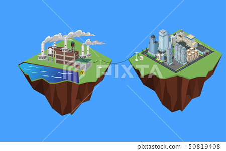 Electricity from nuclear power to the city 50819408