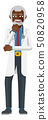 Mature Medical Doctor Cartoon Mascot 50820958