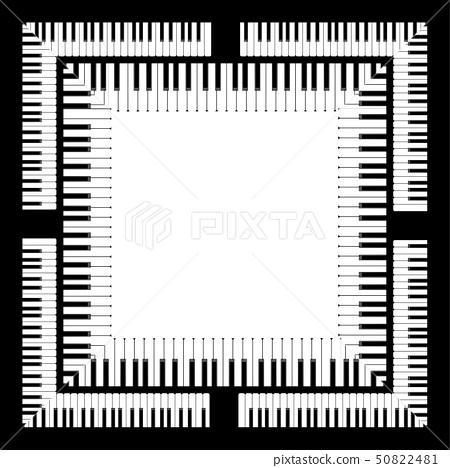 Piano Keyboard Illustration 50822481