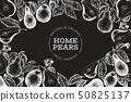 Pear design template. Hand drawn vector garden 50825137