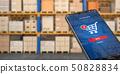 Smartphone on the watrehouse. Warehousing,  50828834