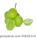 green grapes isolated on white background 50836116