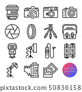 camera and equipment outline icons 50836158