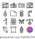 camera and equipment outline icons 50836159
