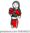 권투를하는 여성 50836823