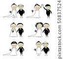 Wedding ceremony - bride and groom together for your design  50837524