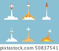 set of rocket launch, start up concept 50837541