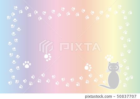 背景材料,貓腳印,肉球,小貓,動物,可愛,插圖,動物醫院,寵物店,廣告,免費材料 50837707