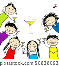 Hen party! Funny friends for your design 50838093