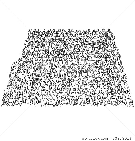 crowd of people on stadium vector illustration 50838913