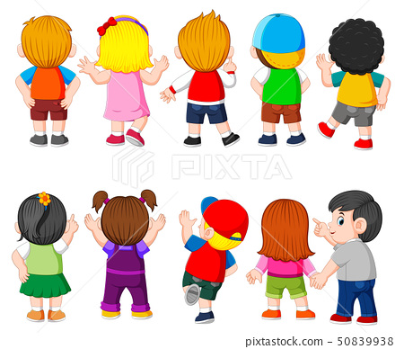 the collection of the costume of the student  50839938