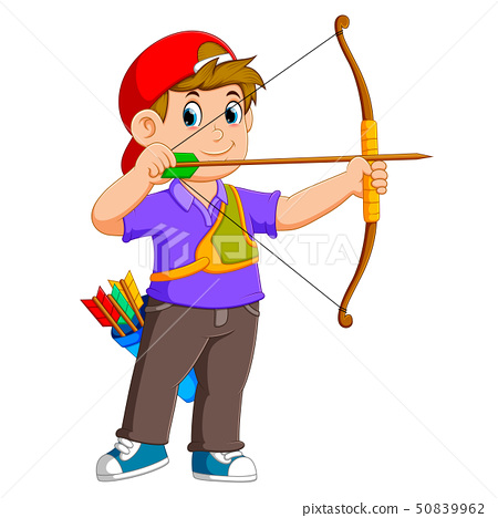 the professional archer is archering  50839962