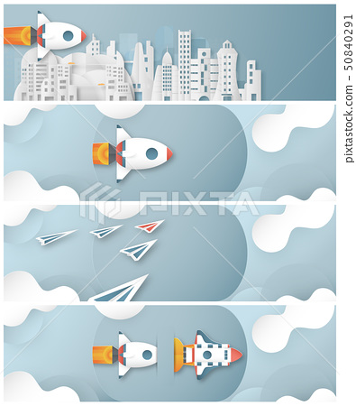 Vector illustration with start up concept. 50840291