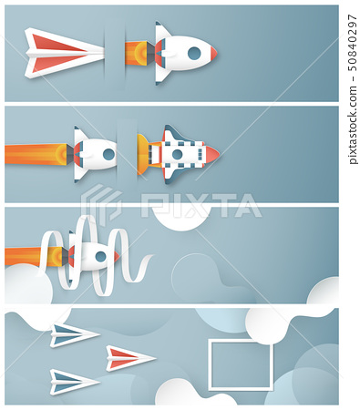 Vector illustration with start up concept. 50840297