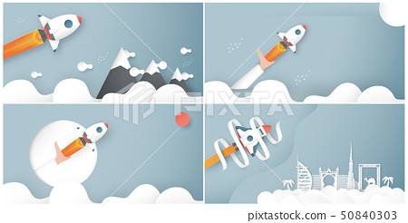 Vector illustration with start up concept. 50840303