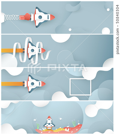 Vector illustration with start up concept. 50840304