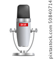 Microphone the element of record studio equipment vector isolated on background. 50840714