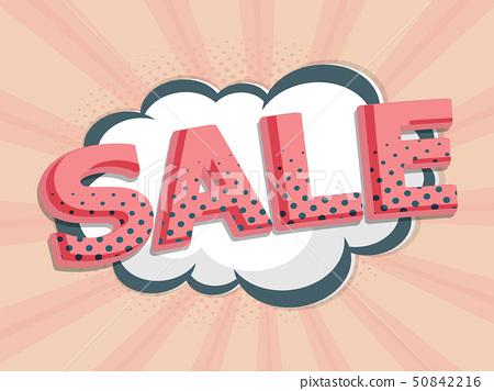 sale label comic book, pop art 50842216