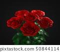 a red rose pack on dark background. 3d illustration 50844114