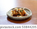 Takoyaki making with hot plate of house 50844205