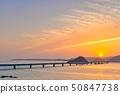 ภาพพระอาทิตย์ตกของสะพานยามากุจิโอฮาชิ 50847738