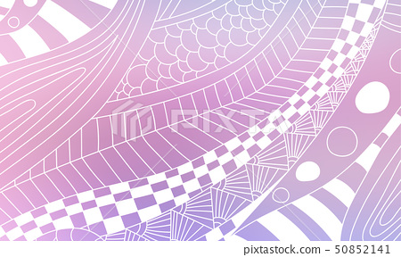 Pastel color vector abstract doodle background. 50852141